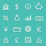 Bank icons set great for any use. Vector EPS10. Stock Photos