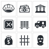 Bank icons set Stock Photo
