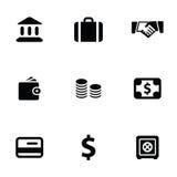 Bank 9 icons set Royalty Free Stock Photos