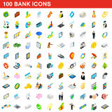 100 bank icons set, isometric 3d style. 100 bank icons set in isometric 3d style for any design vector illustration stock illustration