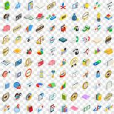 100 bank icons set, isometric 3d style. 100 bank icons set in isometric 3d style for any design vector illustration Stock Images
