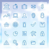 25 bank icons set Royalty Free Stock Photos