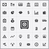 Bank icons universal set. For web and mobile Royalty Free Stock Images