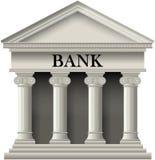Bank-Ikone Lizenzfreie Stockfotos