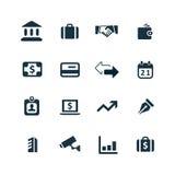 Bank ikony ustawiać Zdjęcia Royalty Free
