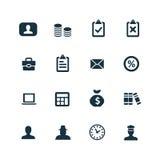 Bank ikony ustawiać Zdjęcie Royalty Free