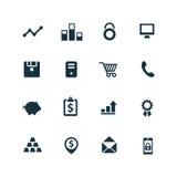 Bank ikony ustawiać Zdjęcie Stock