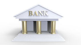 Bank Illustration made in 3d Royalty Free Stock Photography