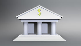 Bank Illustration made in 3d Stock Image