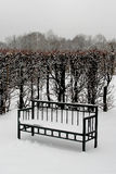 Bank im Winterpark Lizenzfreie Stockfotografie