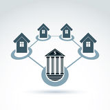 Bank and invest and credit customers, real estate crediting and Stock Photography