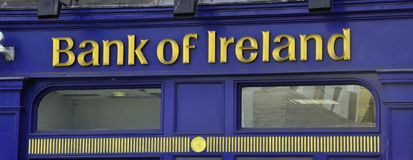 Bank Of Ireland sign Royalty Free Stock Image