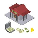 Bank  isometric icons Royalty Free Stock Photo