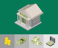 Bank  isometric icons Stock Images