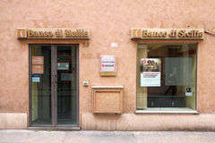Bank in Italy stock photography