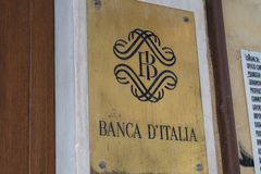 Bank of Italy royalty free stock image