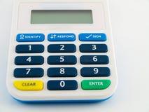 bank kalkulator kod bezpieczeństwa urządzenia bezpieczeństwa szpilki Zdjęcia Royalty Free