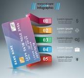 Bank karty ikona Biznesowy Infographic ilustracji