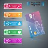 Bank karty ikona Biznesowy Infographic ilustracja wektor