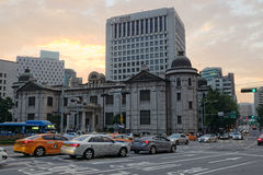 The Bank of Korea - old and new buildings. Seoul, Korea stock photo