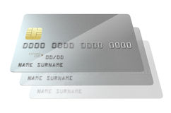 Bank-Kreditkarte-freier Raum Stockfoto