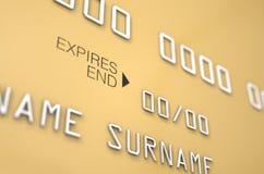Bank-Kreditkarte-freier Raum Lizenzfreies Stockbild