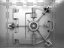 Bank krypty drzwi Zdjęcia Royalty Free