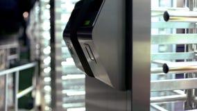 Bank krypty wejście z pozioma dostępem, nowożytne technologie, zakończenie w górę fotografia royalty free