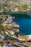 Bank of lake in the Altai mountains Stock Photography