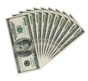 bank lapp tio för anmärkningar för clippingdollarhundreds Royaltyfri Bild