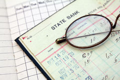 Bank ledger. Vintage bank saving account ledger from the 1920s Royalty Free Stock Photo