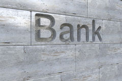 Bank letter Stock Photo