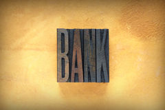 Bank Letterpress Royalty Free Stock Photos