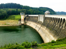 Bank. Listertalsperre Water Reservoir  in Germany Stock Photography