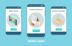 Bank Loan Isometric Set