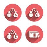 Bank loans icons. Cash money symbols Stock Photography