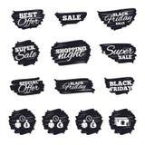 Bank loans icons. Cash money symbols. Stock Images