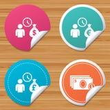 Bank loans icons. Cash money symbols. Royalty Free Stock Images