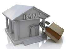 Bank and the lock Stock Images