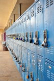Bank of lockers Stock Photos