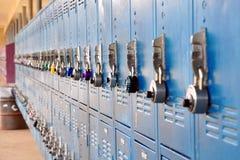 Bank of lockers Royalty Free Stock Image