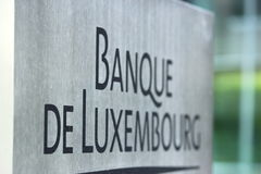 Bank of Luxembourg Royalty Free Stock Photography