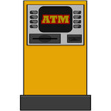 Bank machine Stock Image