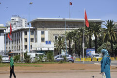 Bank of Magreb in Casablanca,April 20,2012 Stock Image