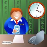 Bank manager Stock Photo