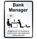 Bank Manager Information Sign Stock Photo