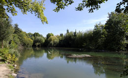 Bank of Marne river near Paris Stock Images