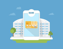Bank mobile application Royalty Free Stock Image