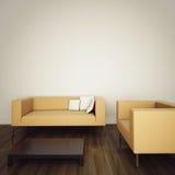 Bank in modern comfortabel binnenland stock illustratie