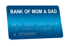 Bank of Mom and Dad Credit Card Family Finances Royalty Free Stock Photo